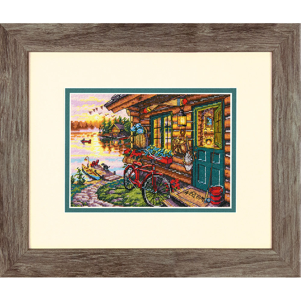 Cabin View Counted Cross Stitch_7065161  Dimensions