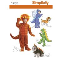 Pattern for Child's and Dog Costumes | Simplicity