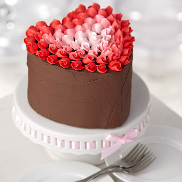 Surrounded By Love Heart Cake Wilton