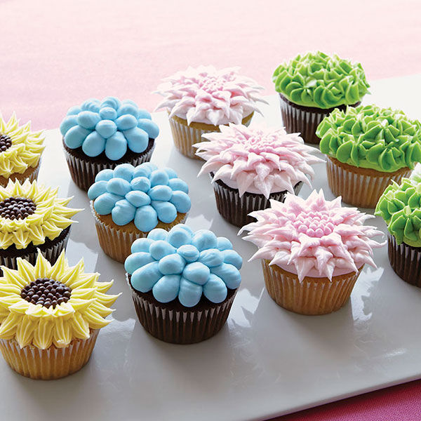 Fanciful Floral Cupcakes  Wilton
