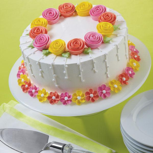 Fanciful Flowers Cake   Wilton