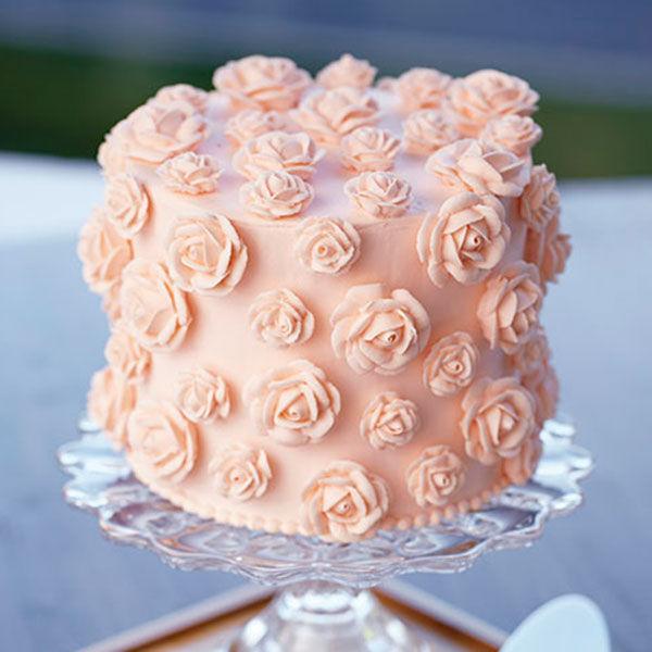 Peachy Rose Cake Wilton