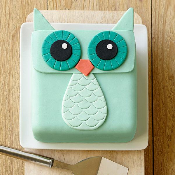 Wide-Eyed Owl Cake   Wilton