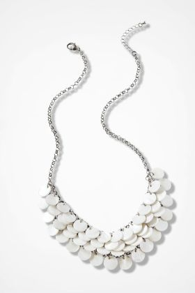 Pearlescent Layers Necklace, Silver, large