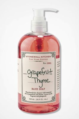 Stonewall Kitchen® Grapefruit Thyme Hand Soap, Pink, large