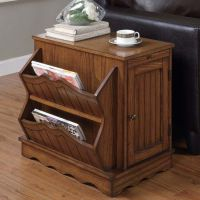 Side Table Cabinet with Magazine Rack at BrookstoneBuy Now!