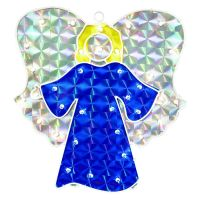 Holographic Angel Lighted Christmas Window DecorationBuy Now!