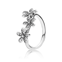 Dazzling Daisies Stackable Ring, Clear CZ | PANDORA Jewelry