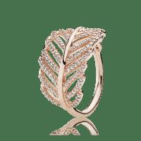 Light As A Feather Ring, PANDORA Rose & Clear CZ | PANDORA
