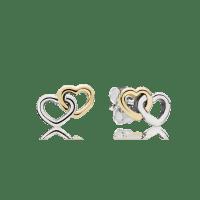 Heart To Heart Stud Earrings | PANDORA Jewelry US