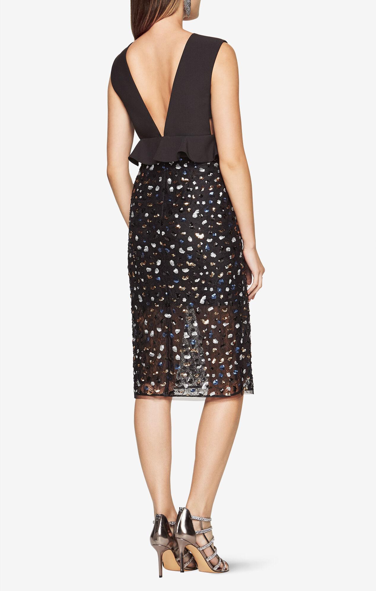 Sequined Peplum Dress