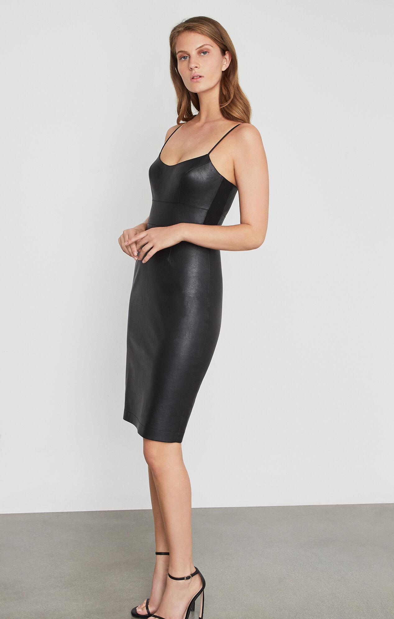 BCBG Faux Leather Dress