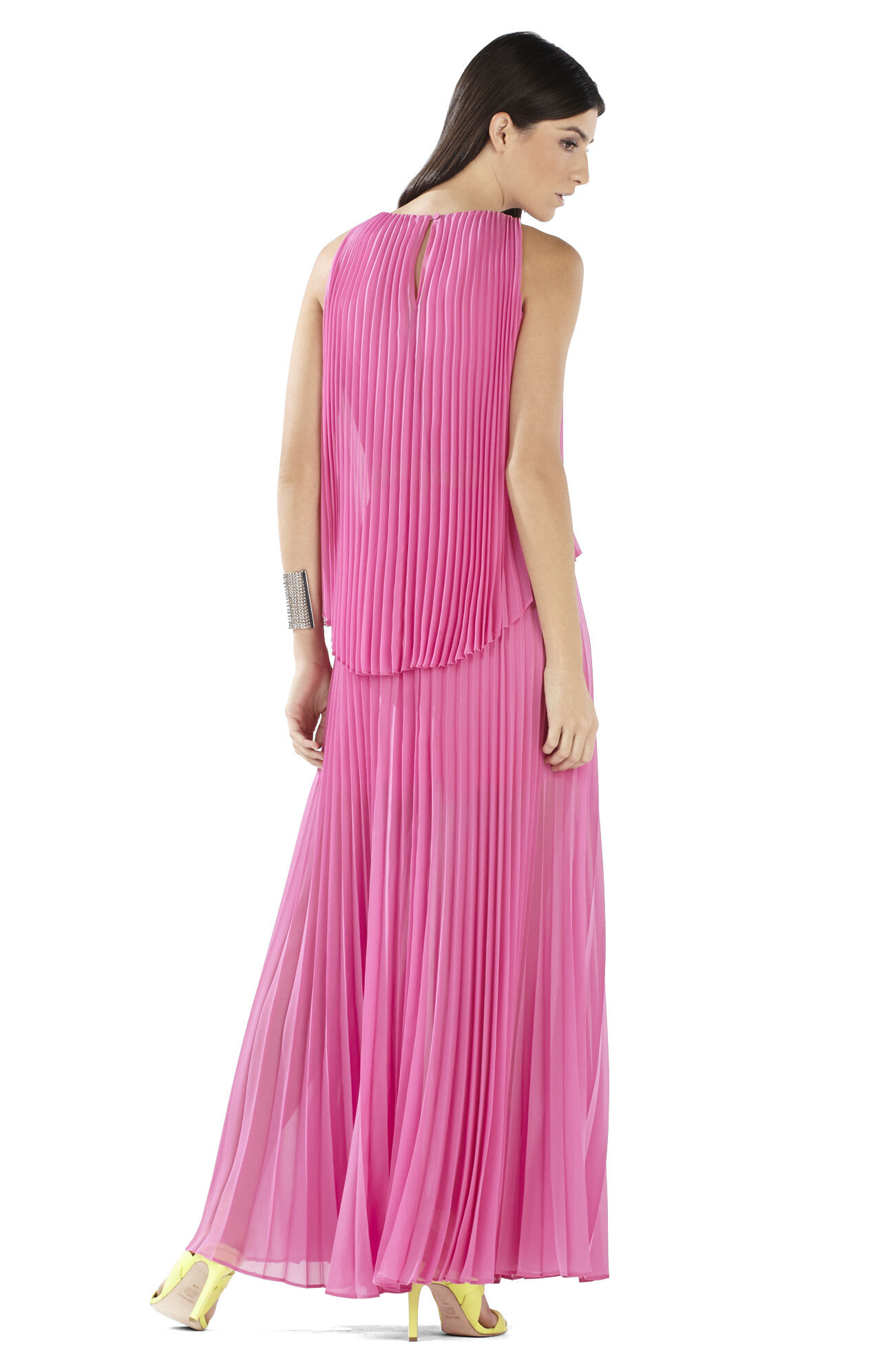 Shaina Sleeveless Pleated Gown
