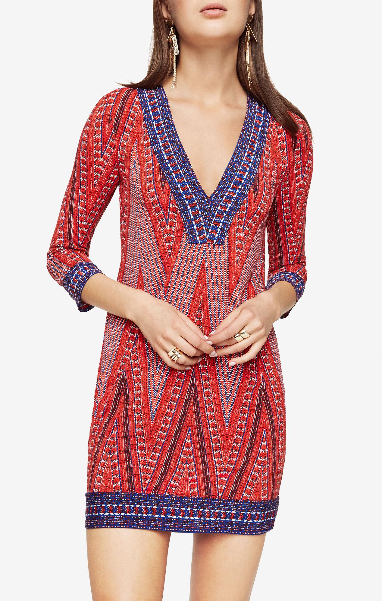 Belle Chevron Print Dress