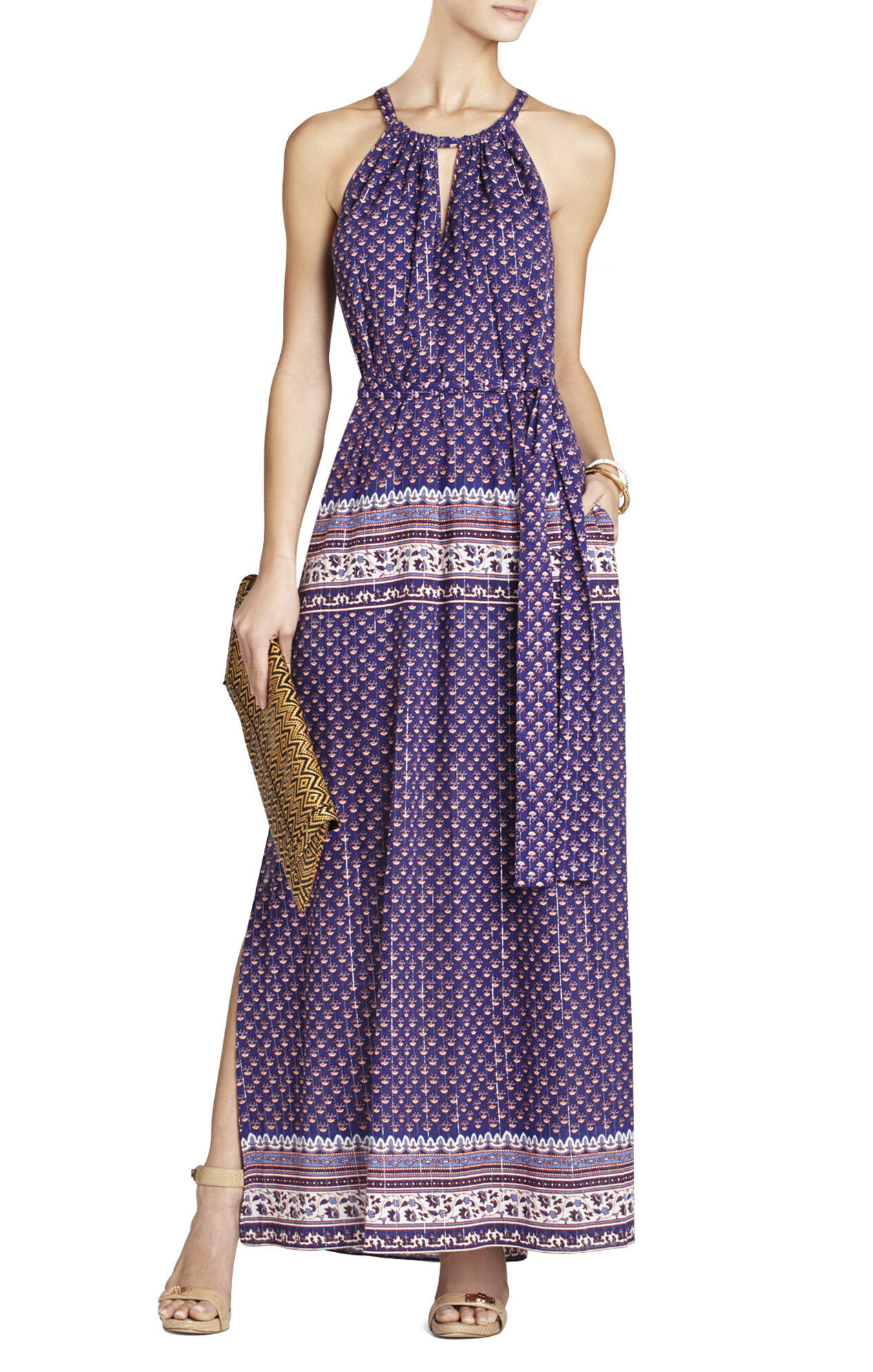 BCBG Mia Printed Maxi Dress