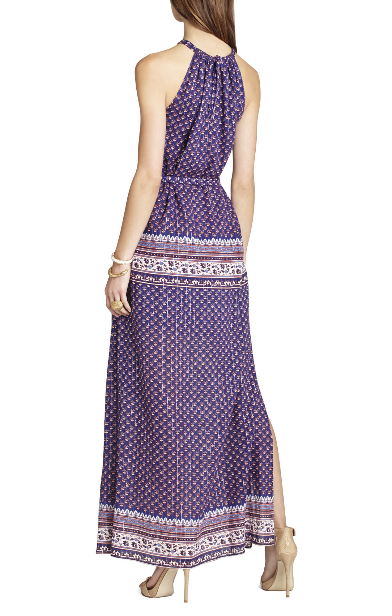 Bcbgmaxazria Mia Printed Maxi Dress