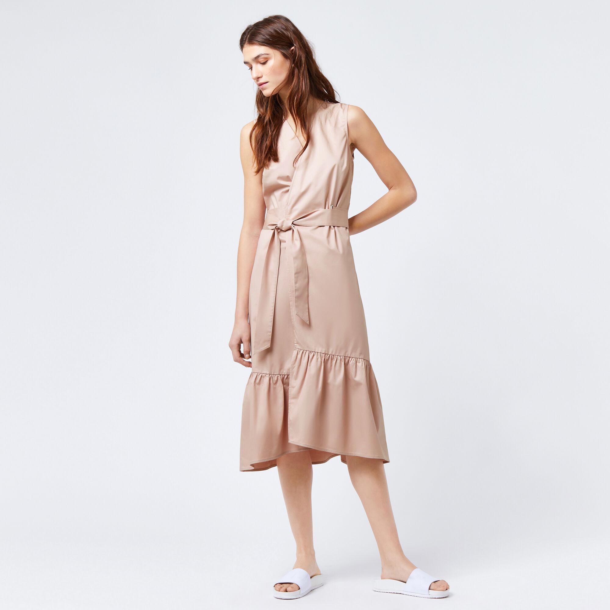 Peplum Hem Wrap Dress Warehouse