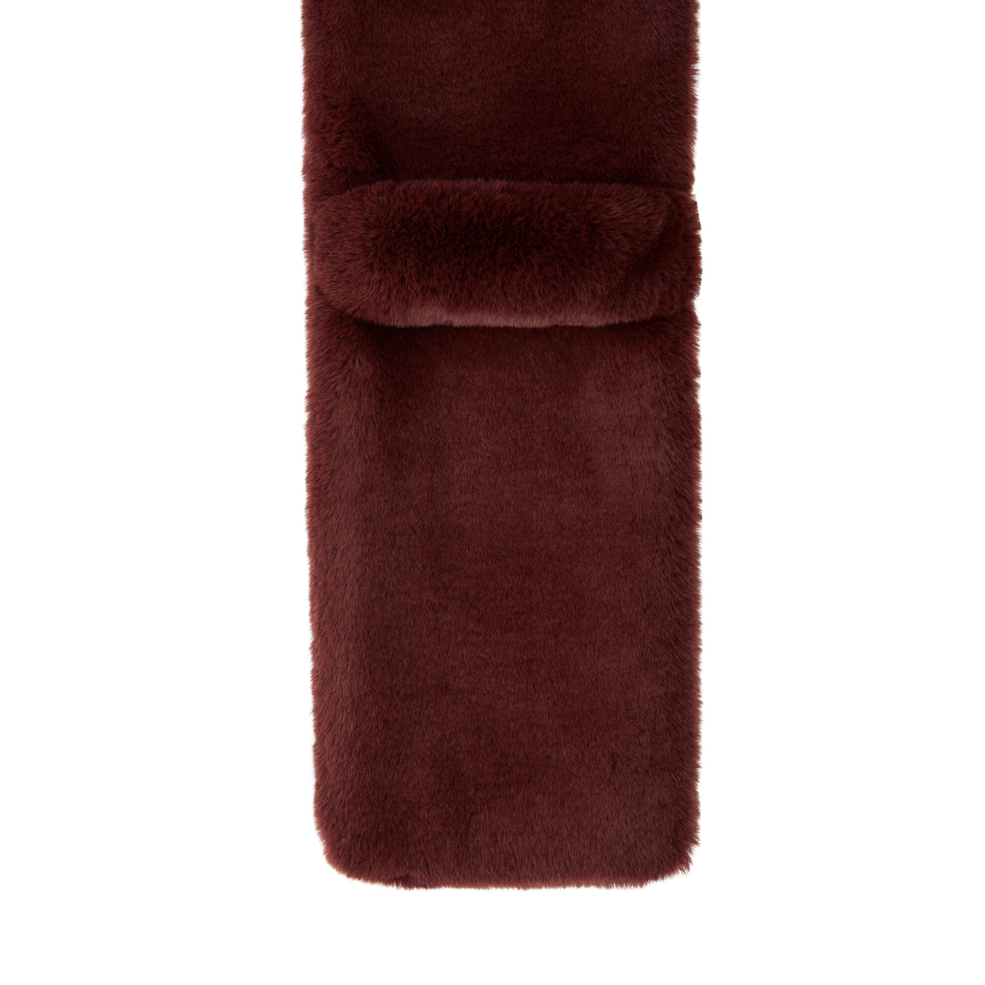 Warehouse, FAUX FUR SCARF Berry 2