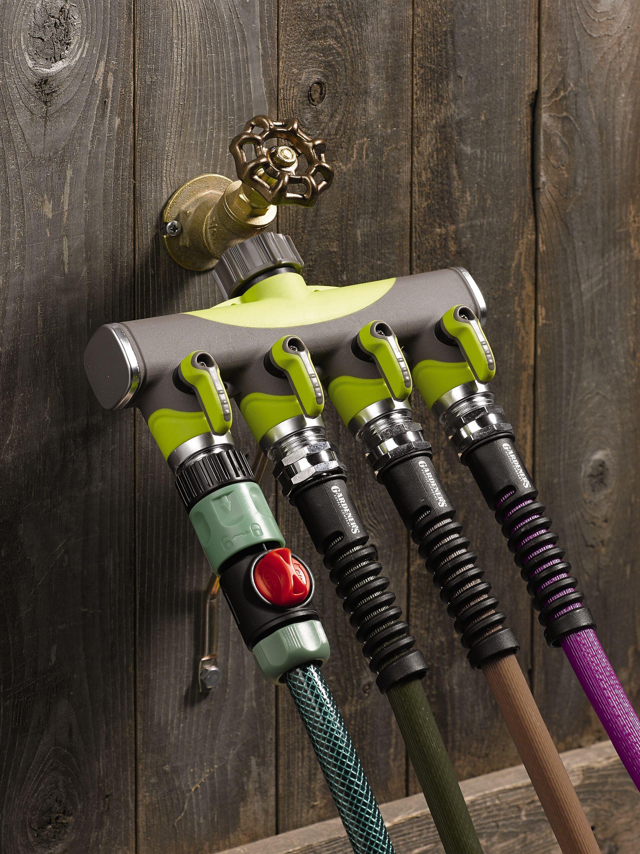 Hose Splitter 4Way Tap Adapter for Garden Hoses