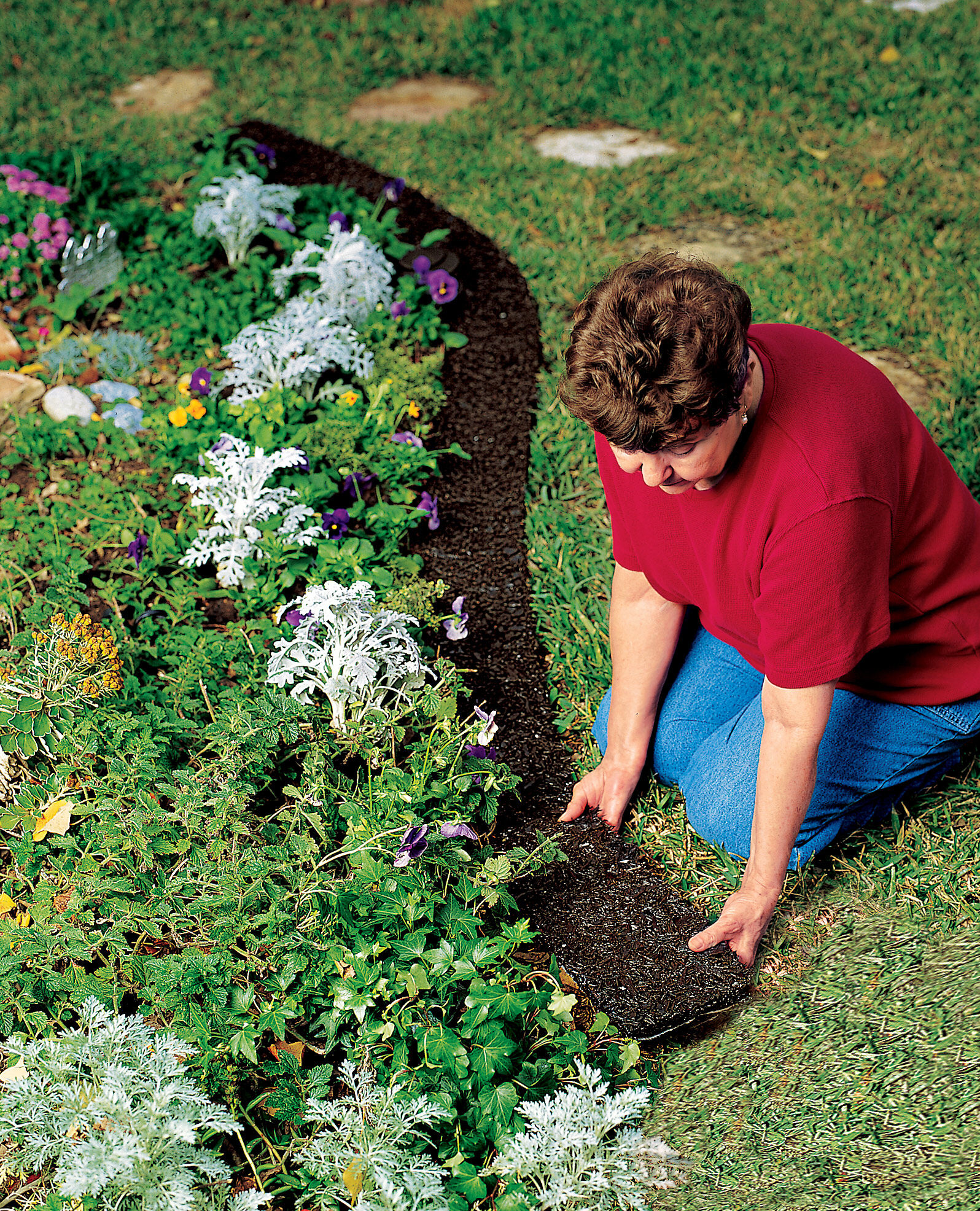 rubber landscape edging - recycled