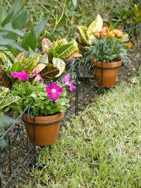 Flower Pot Holder Garden Edging, Set of 3 | Gardeners.com