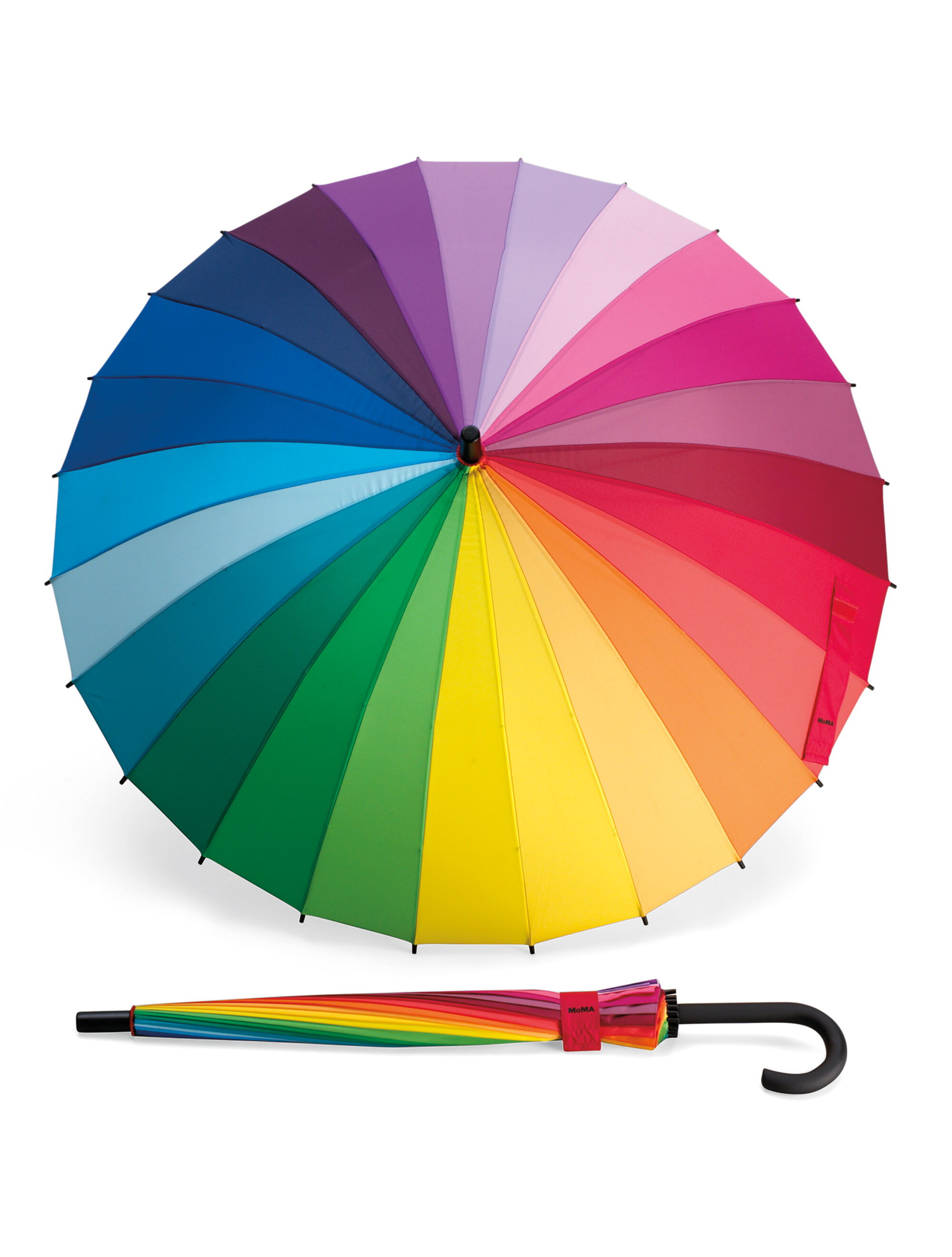 Color Wheel Stick Umbrella