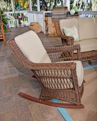 Wicker Rocking Chair - Wicker Rocker - Wicker Rocker Chair
