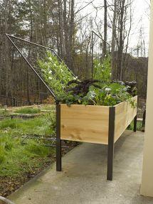 Grow Box 2' X 4' Elevated Cedar Planter In Vermont