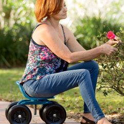 Stool Chair On Wheels Cover Hire Exeter Gardening Seat - Low Rider Swivel Scoot