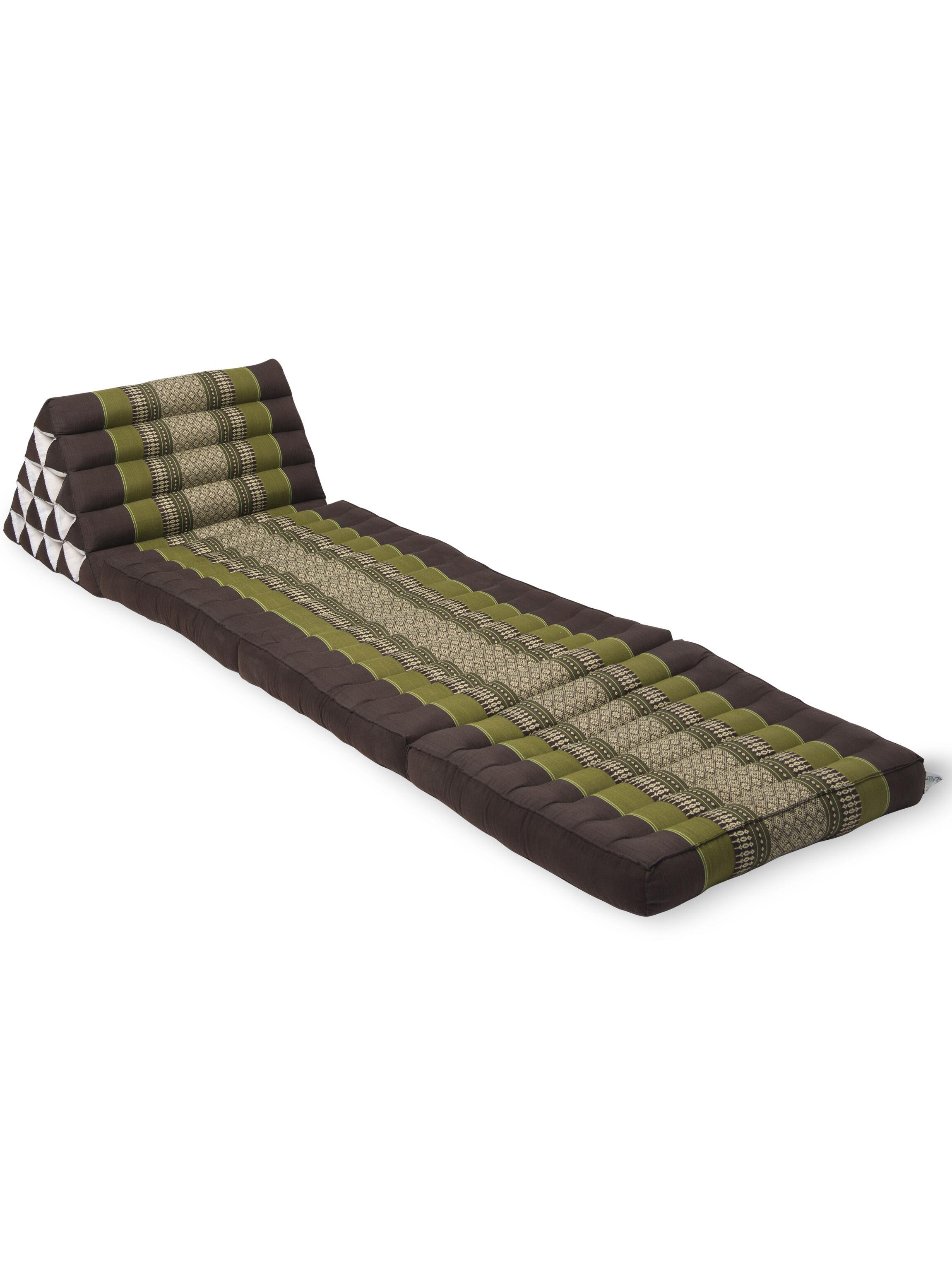 Triangle Floor Lounger  Kapok Pillow  Gardenerscom