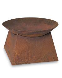 Backyard Fire Pit - Rust Finish Fire Bowl - Wood Burning ...