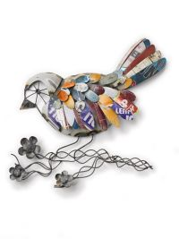 Outdoor Metal Wall Art: Recycled Metal Bird Wall Art ...