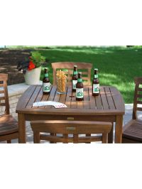Bar Height Table - Outdoor Bar Table - Eucalyptus Patio ...