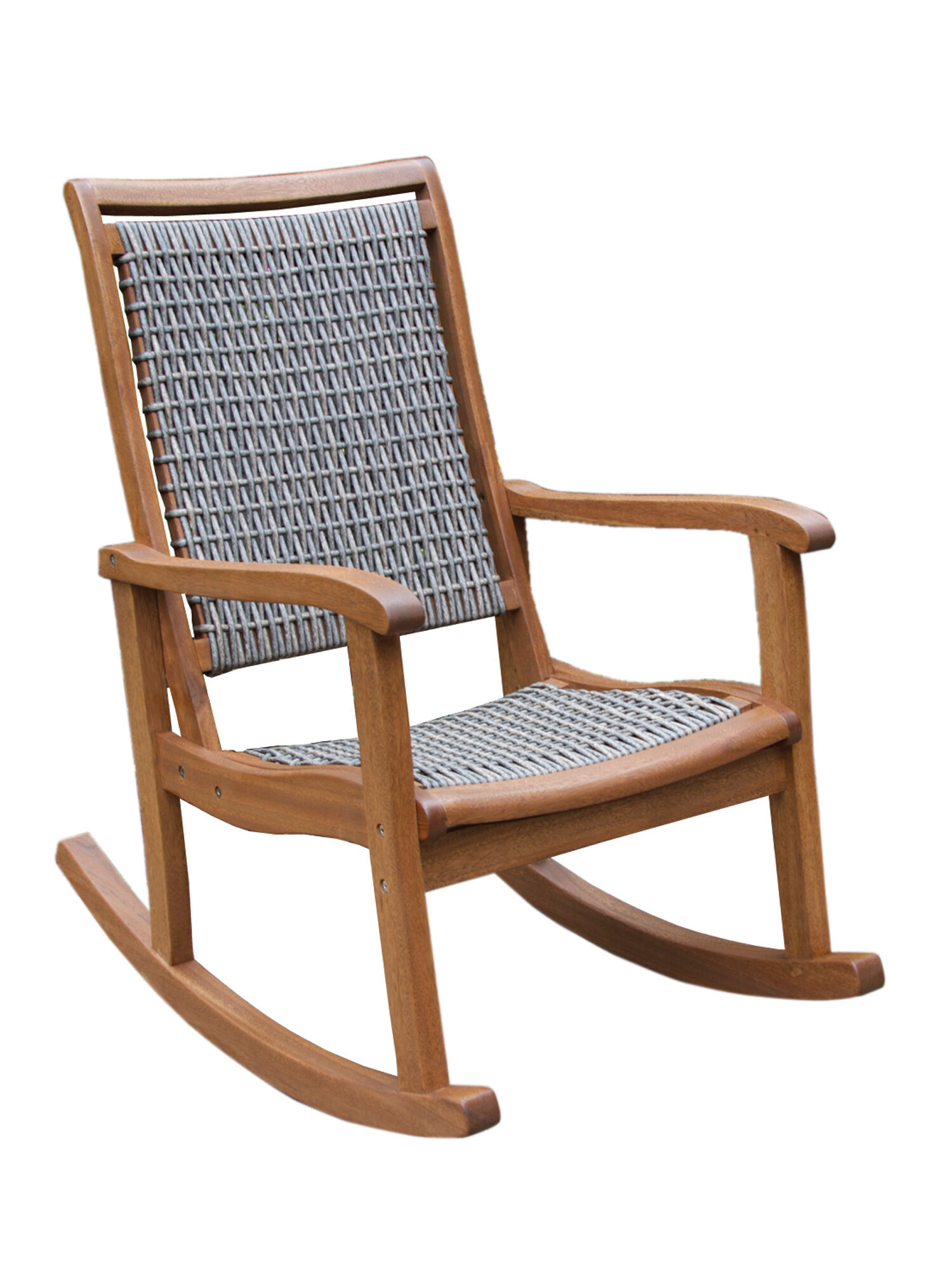 Resin Wicker  Eucalyptus Rocking Chair  Gardenerscom