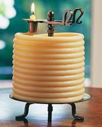 Rope Candle, Beeswax Rope Candle, buy Gardener's Supply