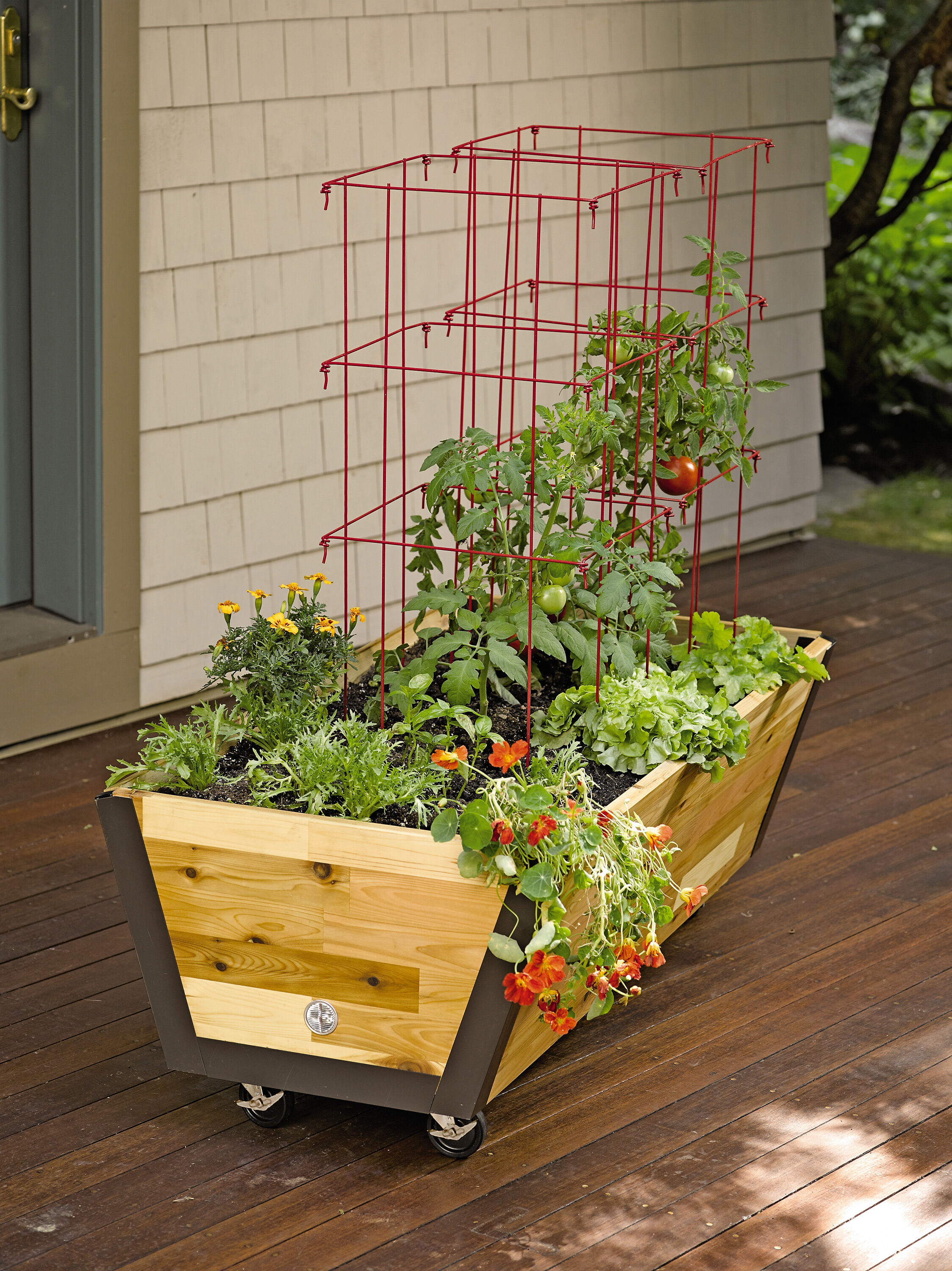 Rolling Planter Box U-garden Bed Wheels