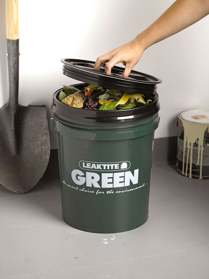 Kitchen Compost Bin Big Green Bucket Gardeners