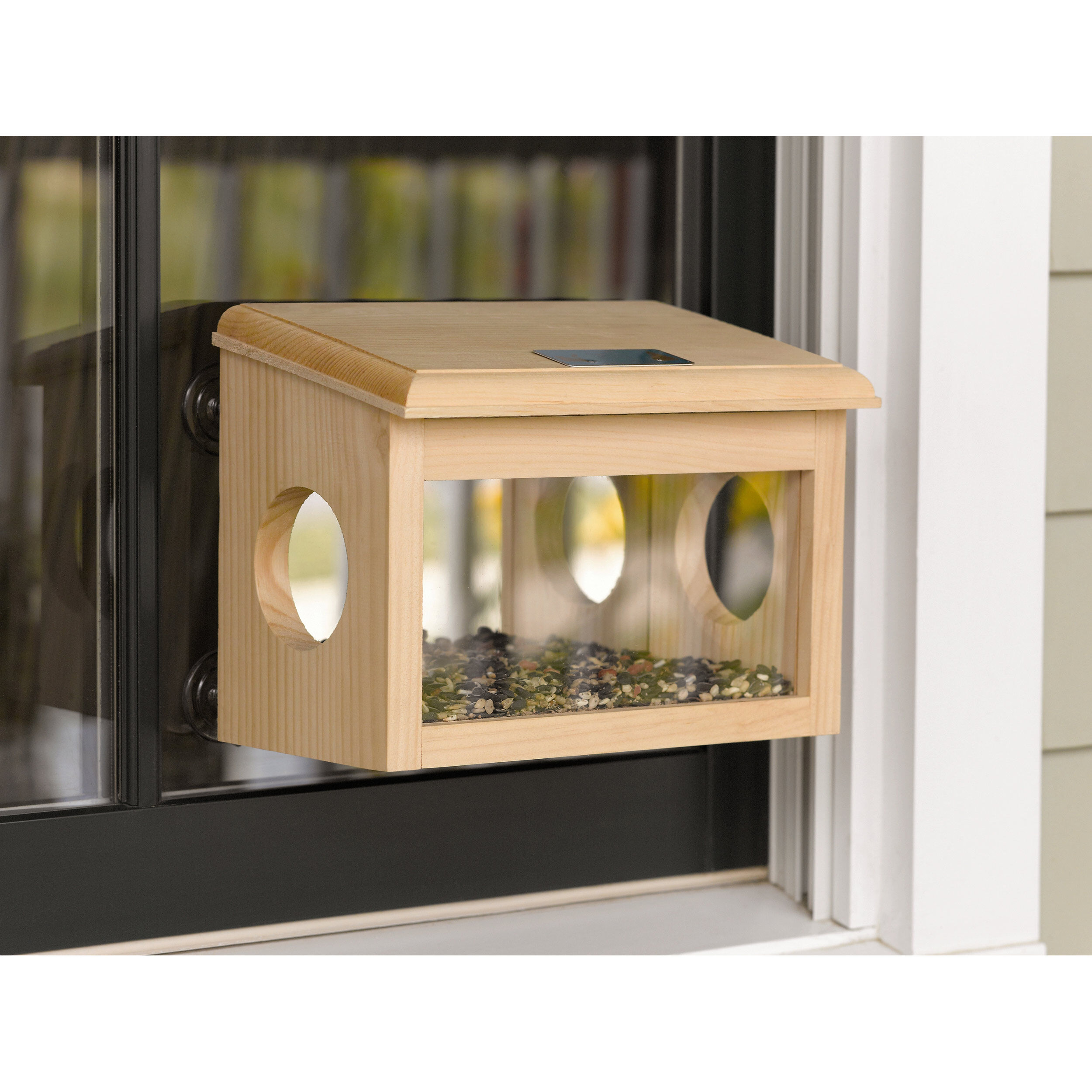 buy mirrored window bird feeder l