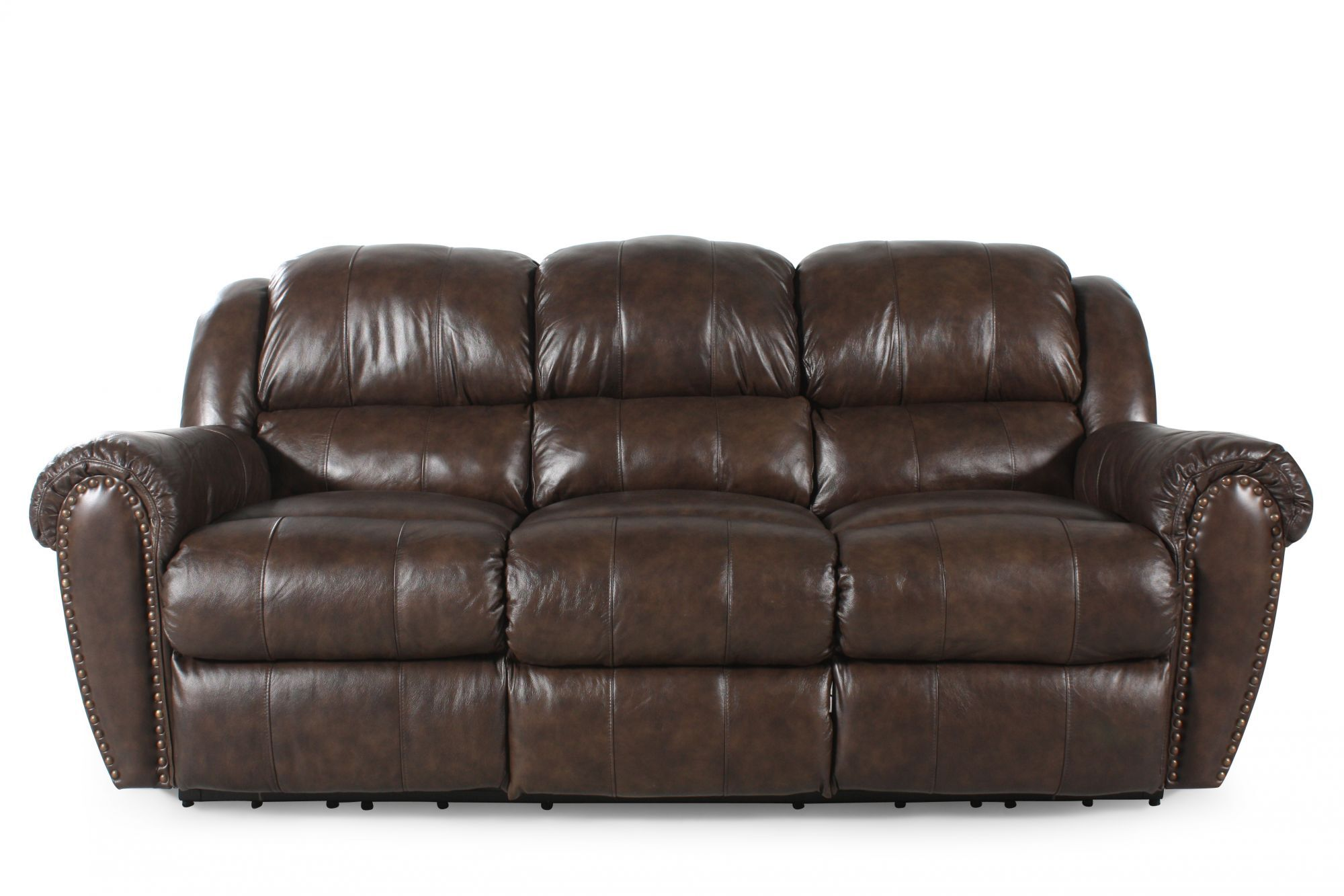 lane triple reclining sofa thomasville leather summerlin mathis brothers furniture