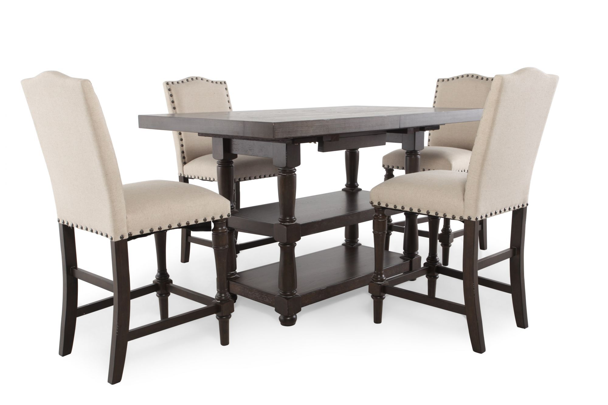 tall kitchen tables and chairs transport wheelchair nova 5 piece pub set by winners only mathis brothers