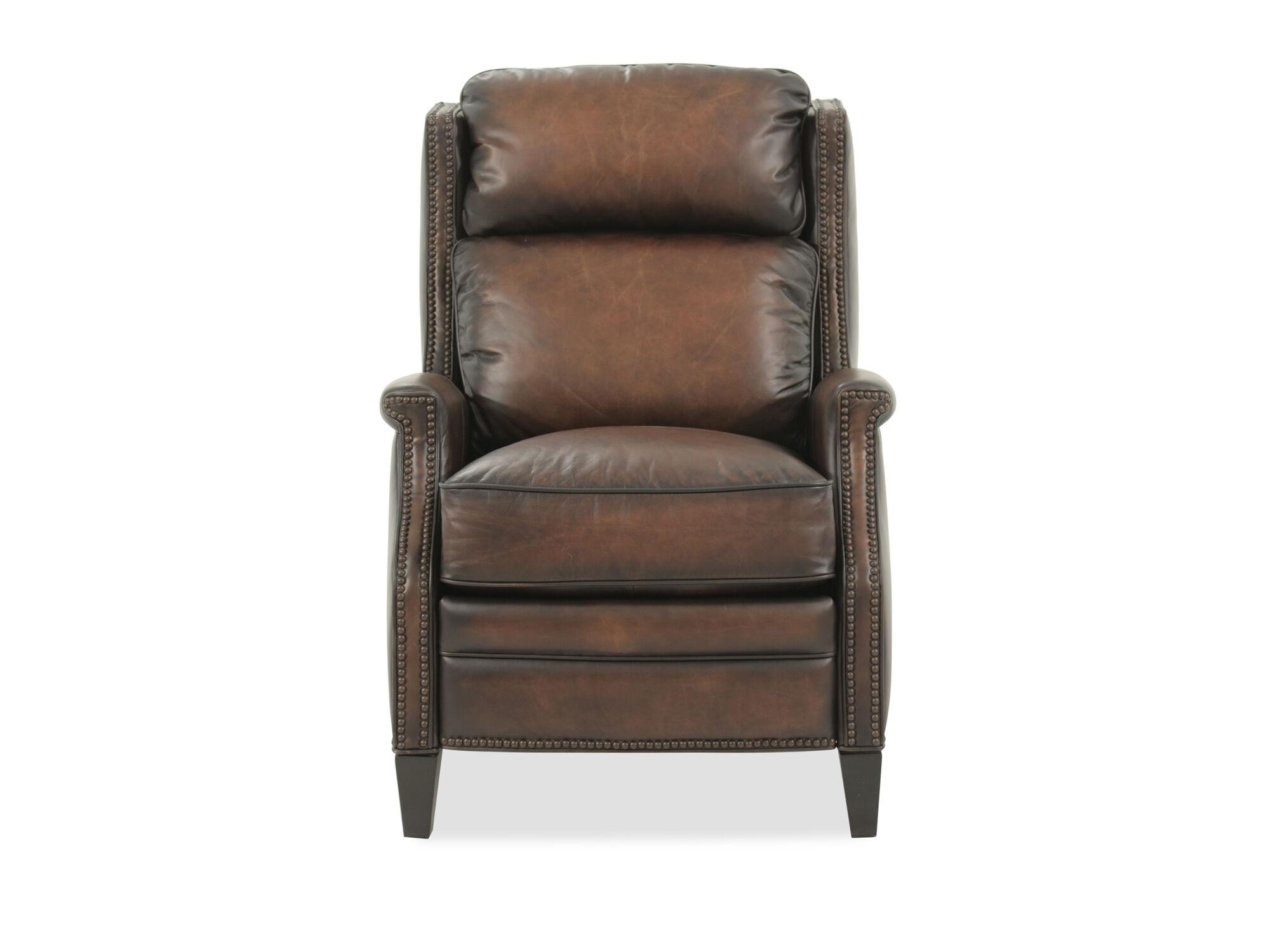 bernhardt brown leather club chair beautiful cover hire oxfordshire connery recliner mathis brothers