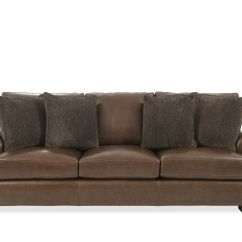Bernhardt Brown Leather Club Chair Humanscale Freedom Review Tyson Sofa Mathis Brothers Furniture