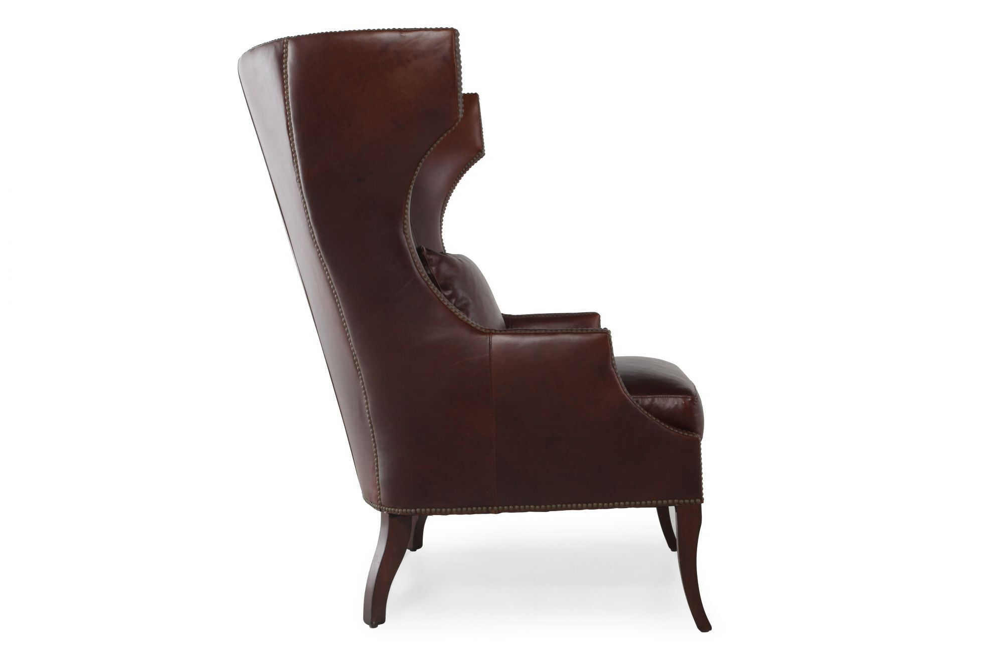 black leather wingback chair mid century lounge for sale henredon mathis brothers