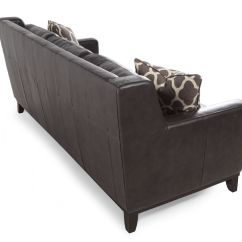 Gray Leather Sofa Images How To Fix Scratches On Boulevard Grey Mathis Brothers Furniture