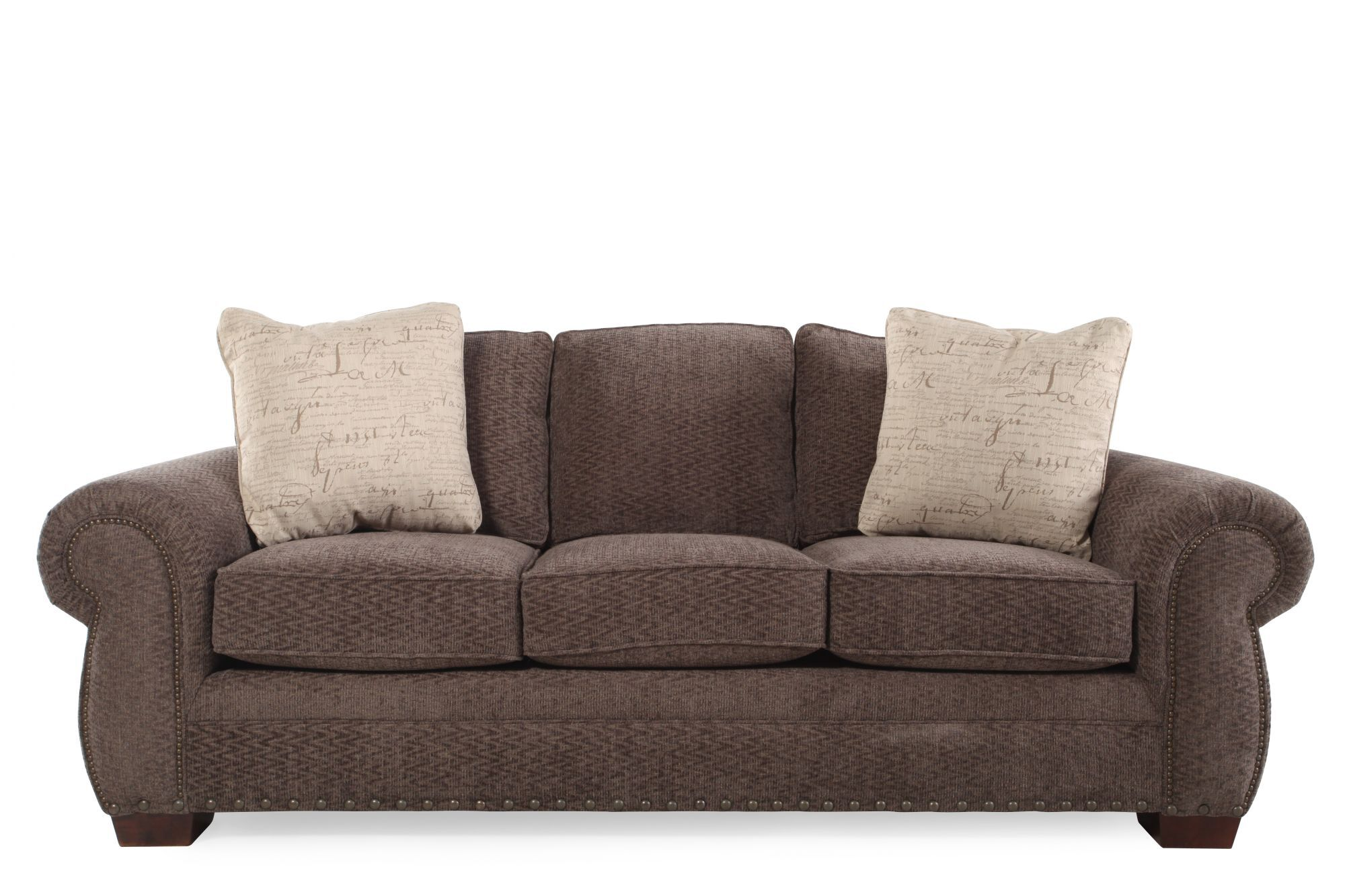 Broyhill Cambridge Chenille Sofa  Mathis Brothers Furniture
