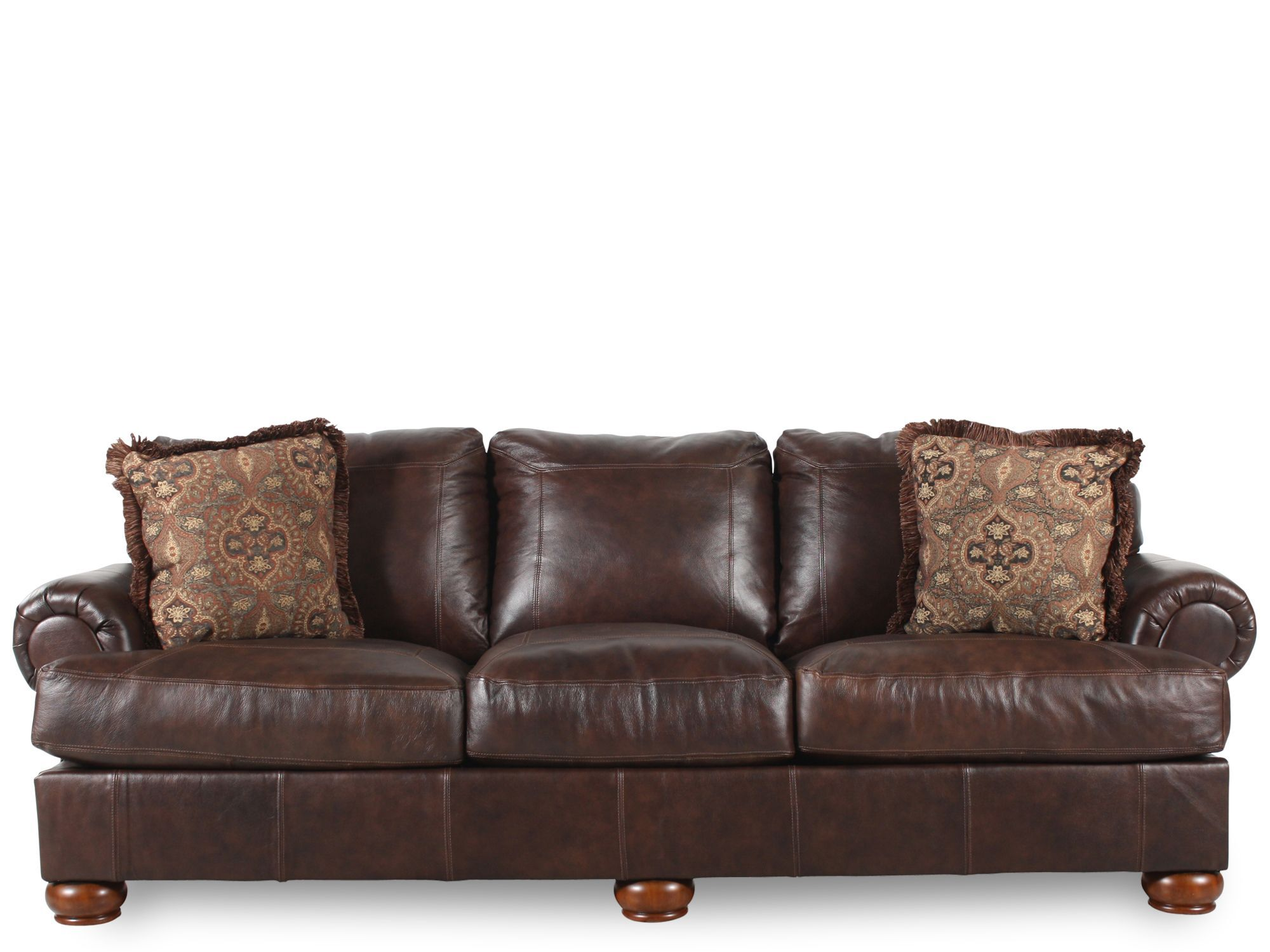 ashley axiom leather sofa 40 inch tall table mathis brothers