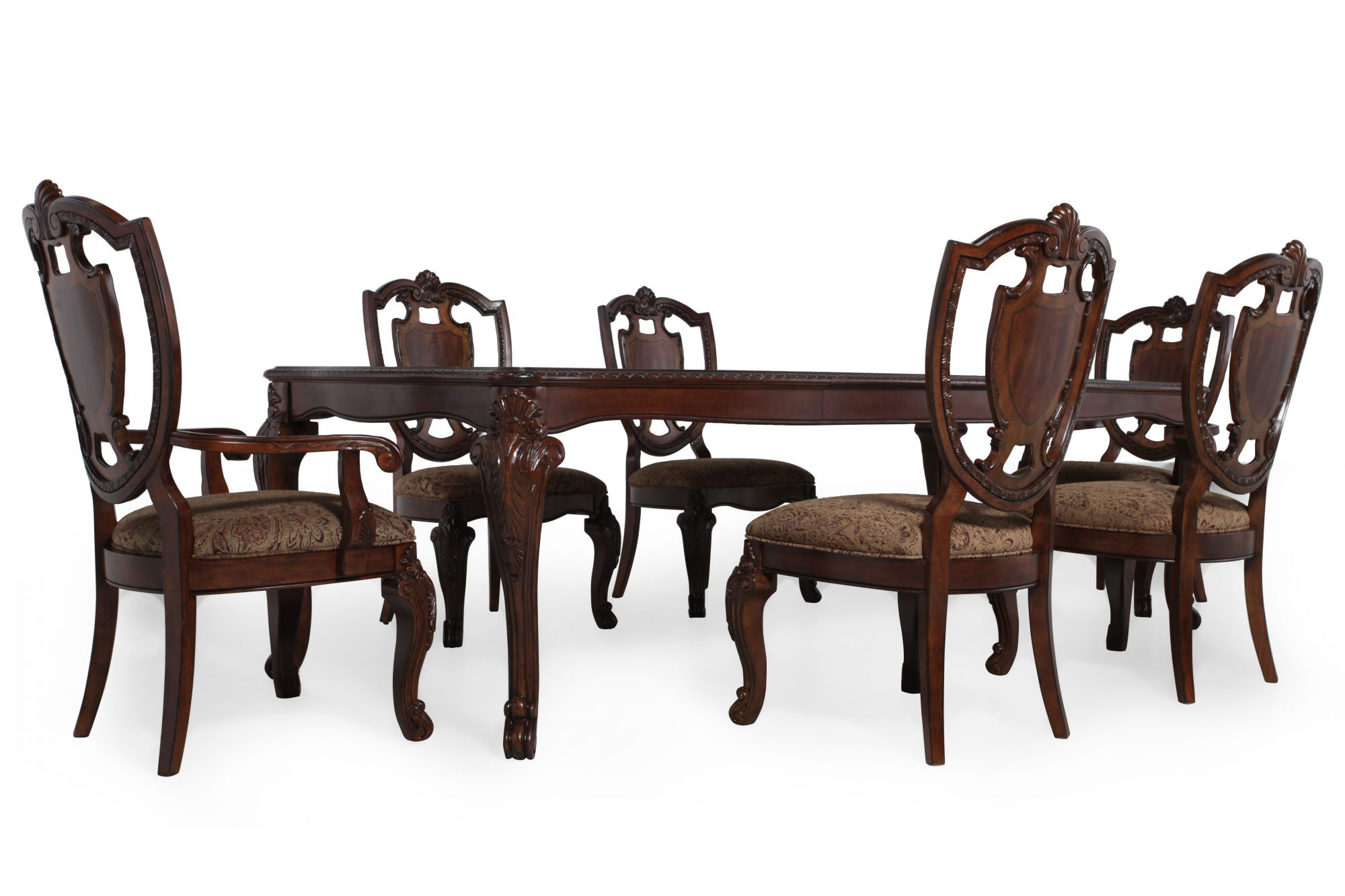 A.R.T. Furniture Old World Seven-Piece Leg Table Dining