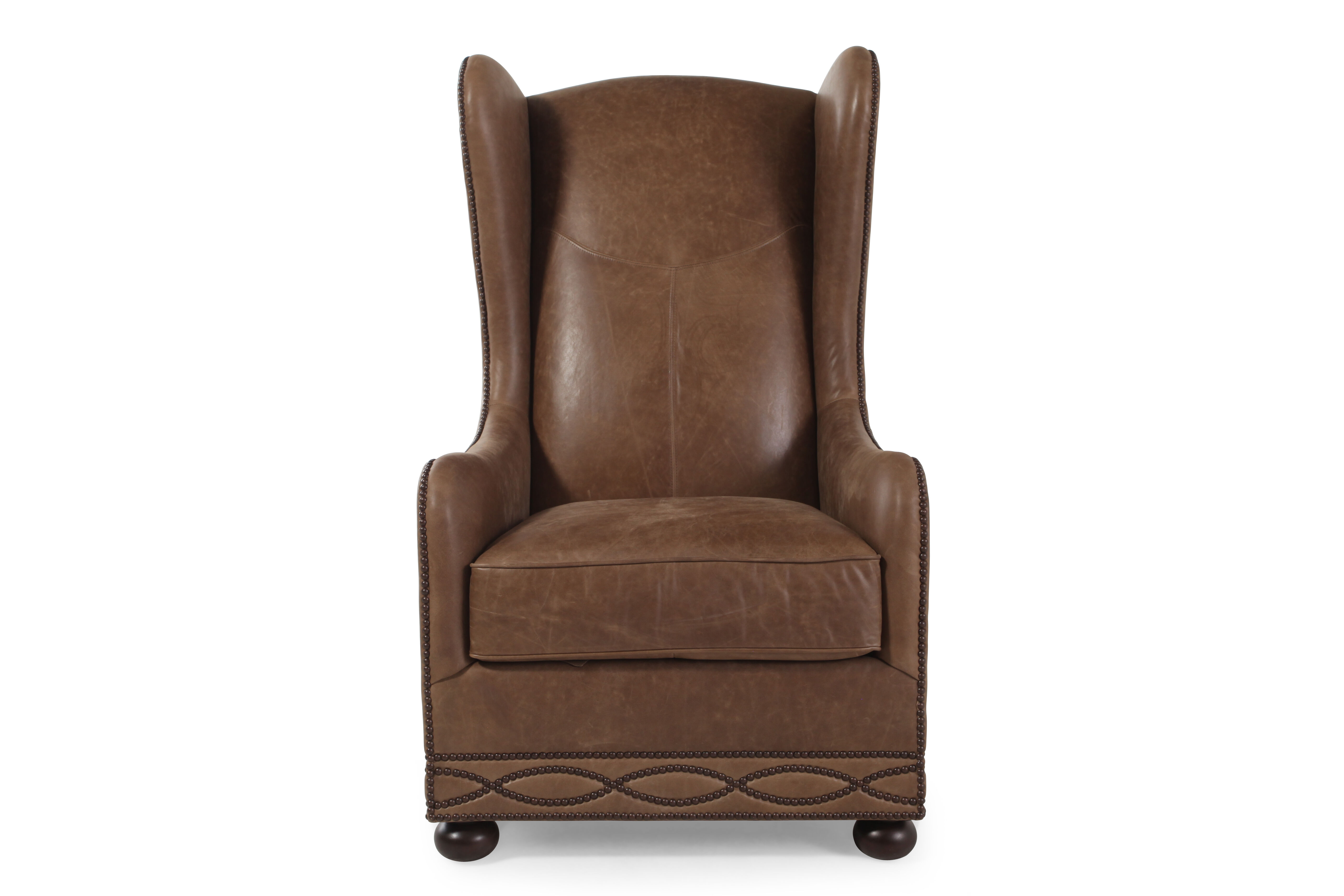 Bernhardt Blaine Leather Chair  Mathis Brothers Furniture