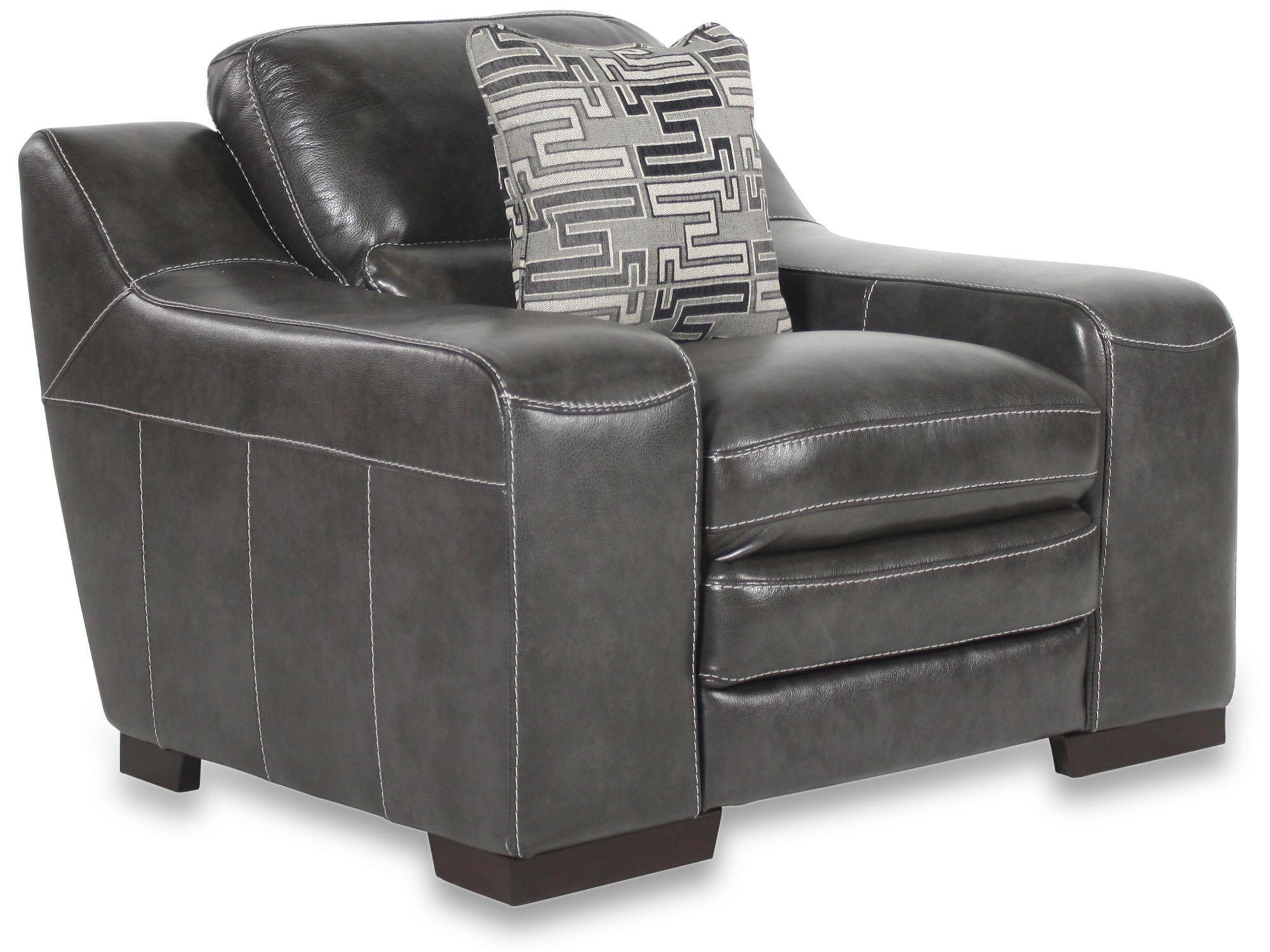 leather sofas in tulsa ok next sofia sofa reviews simon li stampede charcoal chair | mathis brothers ...