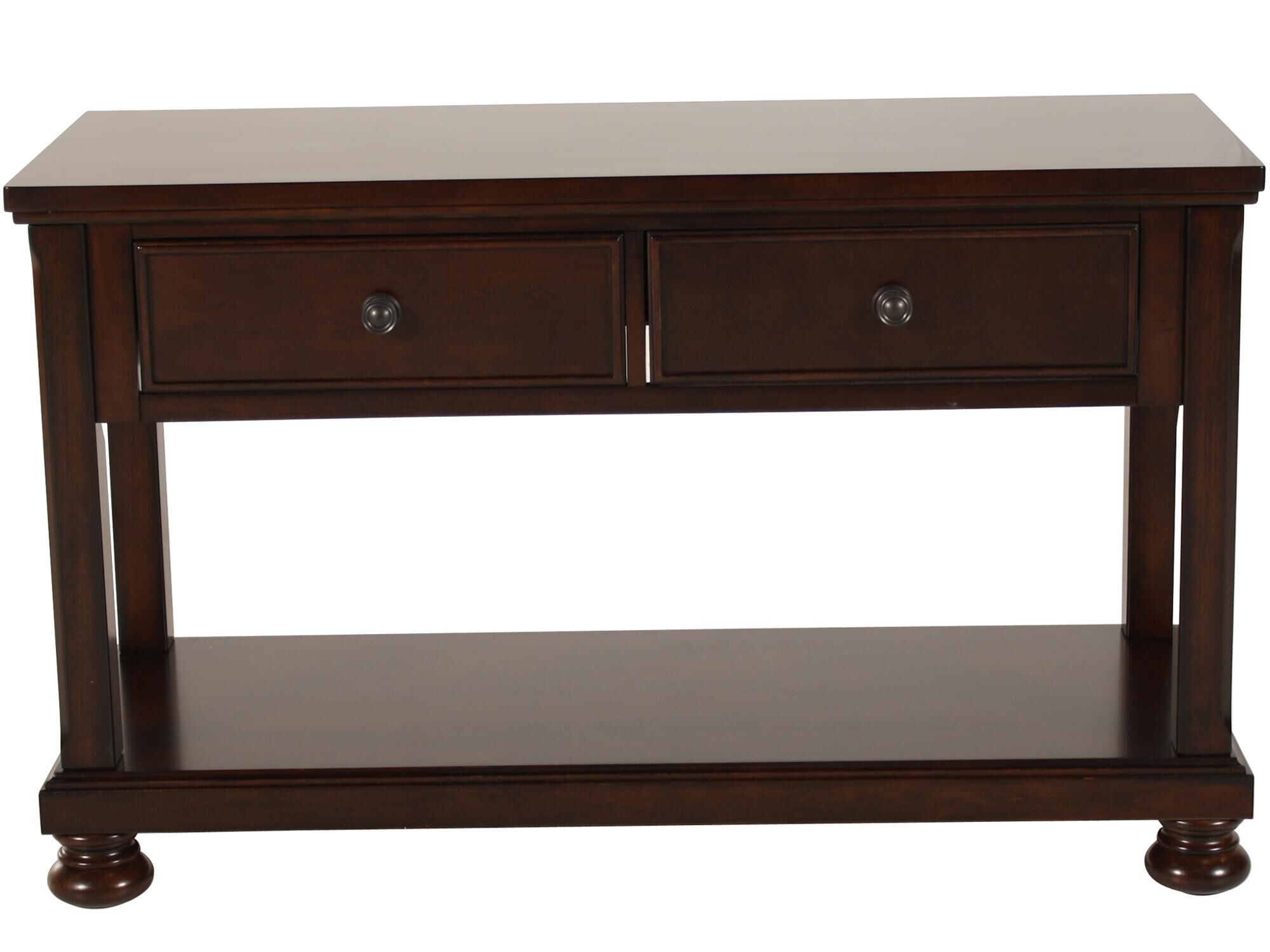 ashley sofa tables broyhill leather and loveseat porter table mathis brothers furniture